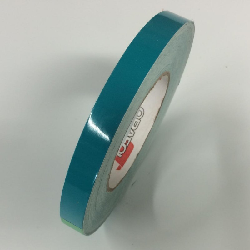 Turquoise blue Pinstripes